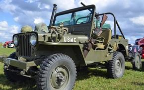 """Картинка мировой, Второй, времён, Jeep, автомобиль, проходимости, повышенной, армейский, """"Виллис-МВ"""", войны, Willys MB"""