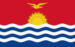 Картинка Солнце, Флаг, Republic, Республика, Kiribati, Кирибати