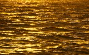 Картинка море, волны, солнце, отблески