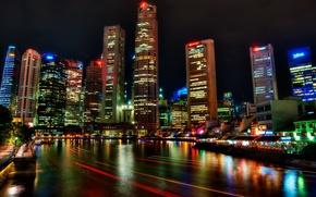 Обои ночь, Сингапур, night, Singapore, Festival, River