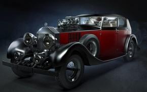 Картинка car, rolls royce, автомобиль, классика, old, roadster