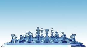 Обои партия, стекло, шахматы