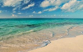 Картинка песок, волны, пляж, океан, The Bahamas Honeymoon