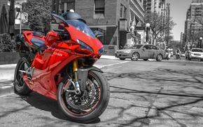 Обои красный, дукати, Ducati, street, red, шлем, мотоцикл, машины, cars, helmet, 1098S, superbike