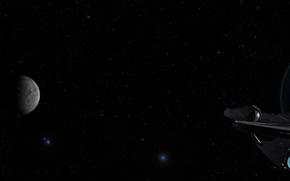 Картинка космос, звезды, земля