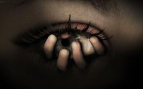 Картинка Глаз, Рука, Страх, Ужас, Жуть