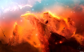 Картинка огонь, планета, конец света