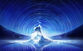 Картинка девушка, магия, спокойствие, сон, vocaloid, hatsune miku, вокалоид, art, rella