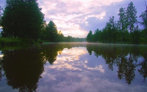 Картинка Nature, Sunset, water, River
