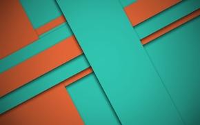 Обои color, линии, material- design, оранжевый, геометрия, текстура, зеленый