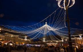 Картинка Christmas, holiday, Romania, Sibiu