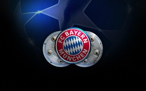 Обои футбол, клуб, Германия, эмблема, Лига Чемпионов, FC Bayern Munchen, Chempions League, Бавария Мюнхен