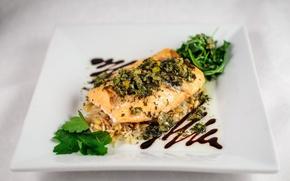 Картинка еда, рыба, тарелка