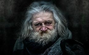 Картинка человек, портрет, старик