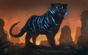 Картинка тигр, арт, Mystic Tiger, Raph04art