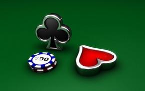 Обои карты, фишки, масть, казино, крести, червы
