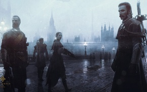 Обои PS4, мост, London, туман, Steampunk, Ready at Dawn, The Order: 1886, Playstation 4
