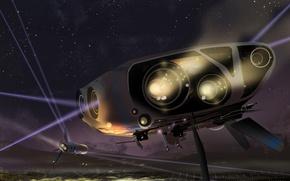 Картинка planet, spaceships, rusty