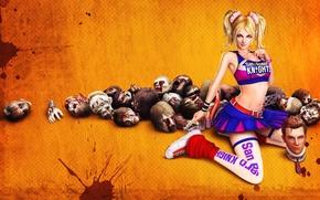 Картинка Блондинка, Зомби, Lollipop Chainsaw, Juliet Starling, Няша, Короткая юбка.