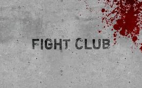Обои минимализм, стена, кровь, бойцовский клуб, fight club