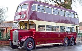 Обои ретро, двухэтажный, автобус, классика