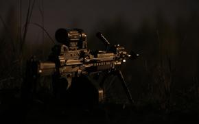 Картинка оружие, вечер, пулемёт, ручной