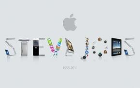 Картинка обои, apple, стив джобс, 1955-2011 год
