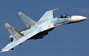 Картинка Flanker, ОКБ Сухого, ВВС России, Су-27СМ, тяжёлый истребитель, модернизированная версия серийного самолёта