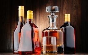 Обои бутылка, алкоголь, коньяк, виски, whiskey