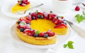 Обои ягоды, сладость, торт, cake, десерт, выпечка, cakes, sweets, berries, desserts