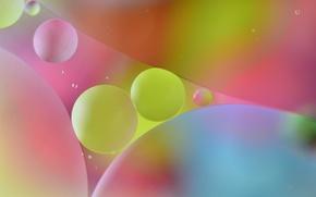 Картинка вода, пузырьки, цвет, масло, круг, воздух, объем
