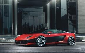 Картинка красный, Lamborghini, red, Gallardo, ламборджини, галлардо, LP 560-4, Fernandez World Photography