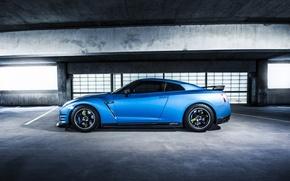 Картинка GTR, Nissan, Blue, Side, Parking, Jotech, Speed Shield, Wrap