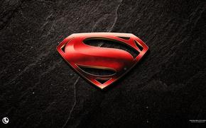 Обои logo, film, yuusha, official wallpaper, Man of Steel, movie, hero, Superman, S, wall, cinema