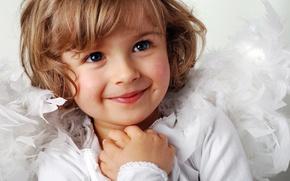 Обои дети, детство, улыбка, милая, ребенок, девочка, Новый год, красивая, new year, smile, beautiful, child, cute, ...