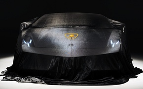 Картинка car, lights, black, front, Lamborghini Gallardo, Show, lp570-4 superleggera