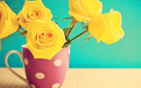 Обои vintage, roses, flowers, розы, цветы, винтаж