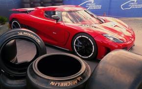 Картинка Koenigsegg, шины, красная, Agera R