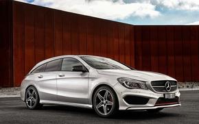 Картинка Mercedes-Benz, мерседес, Sport, универсал, Shooting Brake, AU-spec, 4MATIC, 2015, X117, CLA 250