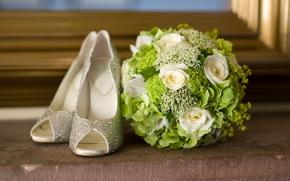 Картинка туфельки, цветы, букет, flowers, shoes, bouquet, модно, fashionable