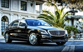 Обои 2015, US-spec, Maybach, S 600, майбах, мерседес, Mercedes, X222