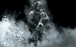 Картинка солдат, modern warfare 2, call of duty