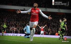 Обои Арсенал, Arsenal, Thierry Henry, Тьерри Анри