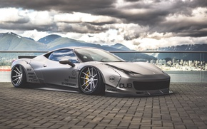 Картинка Ferrari, 458, italia, Body, Wide