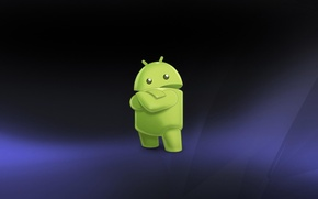 Картинка Hi-Tech, андроид, android, фон, глаза, art