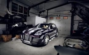 Обои cayenne, Porsche, гараж