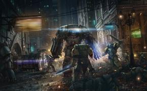 Картинка фантастика, война, кровь, солдаты, warhammer 40000, Warhammer 40K, WH40K
