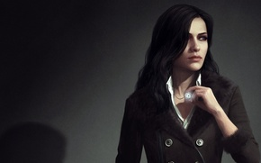 Картинка девушка, брюнетка, арт, ведьма, The Witcher 3: Wild Hunt, witcher 3, Yennefer of Vengerberg, yennefer