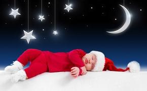 Картинка звезды, дети, луна, одежда, малыш, Новый год, moon, new year, stars, костюмы, merry christmas, children, …