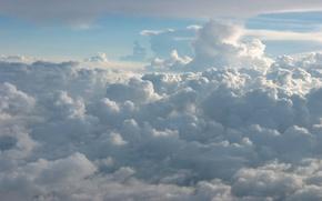 Обои белый, небо, голубой, облака